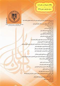 دانلود فصلنامه علمی - حقوقی قانون یار - دوره یازدهم - پاییز 1398