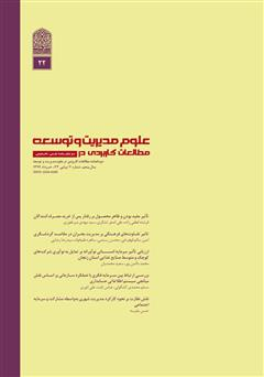 دانلود دو ماهنامه مطالعات کاربردی در علوم مدیریت و توسعه - شماره 22